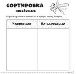 Сортировка - насекомые