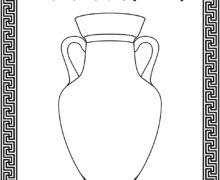 """Раскраска """"Древнегреческая ваза"""""""