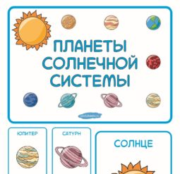 Планеты Солнечной системы - карточки