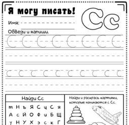 Прописи для дошкольников - буква С