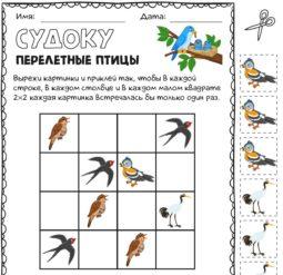 Перелётные птицы - Судоку