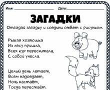 Загадки о животных 1