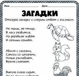 Загадки о животных 3