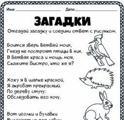 Загадки о животных 4