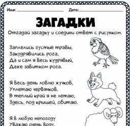 Загадки о животных 5