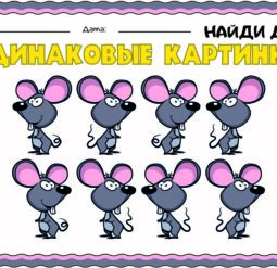 Одинаковые картинки - мышь