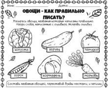 Овощи - как правильно писать
