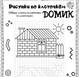 Рисунки по клеточкам - Домик