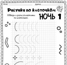 Рисунки по клеточкам - Ночь 1