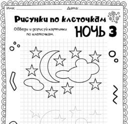 Рисунки по клеточкам - Ночь 3