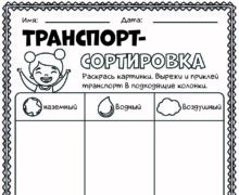Транспорт-сортировка