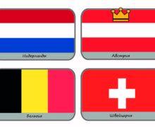 Карточки Флаги стран Европы