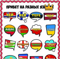 Плакат Привет на разных языках