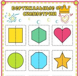 Плакат Вертикальные оси симметрии