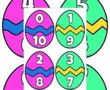 Пасхальный состав числа - до 10