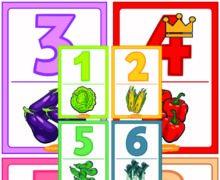 Карточки цифры овощи