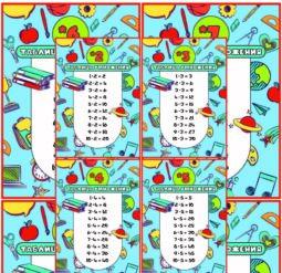 Мини-Плакаты Таблица умножения