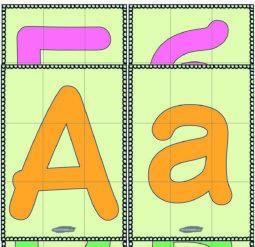 Пазл алфавит русский цветной