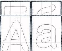 Русский алфавит черно-белый - Пазл