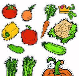 Овощи - картинки для вырезания. Серия 6 листов