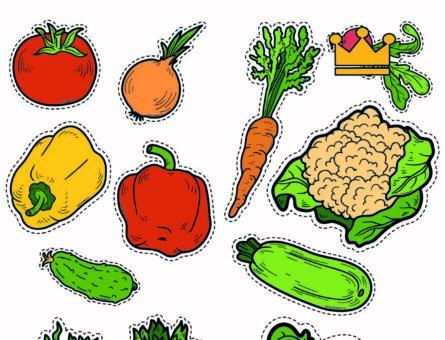 Овощи - картинки для вырезания