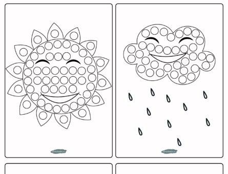 Игра в заплатки - Погода - чёрно-белая