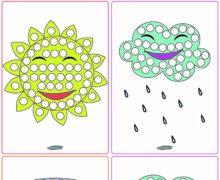 Игра в заплатки - Погода - цветная