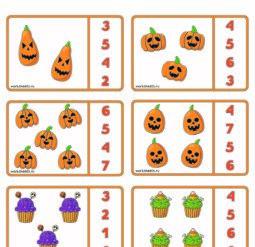 Карточки для счета - Хэллоуин