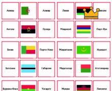 Страны Африки - флаги и столицы - карточки
