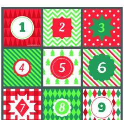 Номерки для адвент календаря