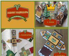 Новогодняя деревня - адвент календарь