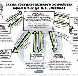Схема государственного устройства Афин при Перикле