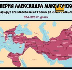 Маршрут завоеваний Александра Македонского