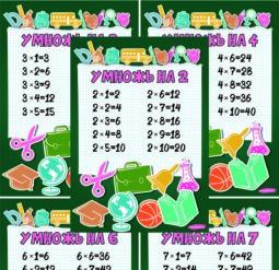 Таблица умножения - снова в школу