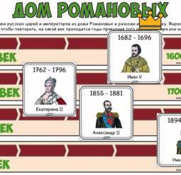 Дом Романовых - разложи по порядку
