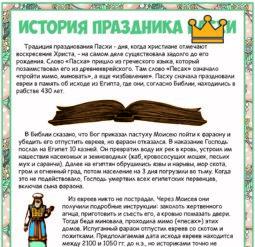 Рассказы об истории праздника Пасхи