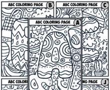 Алфавитные раскраски - английский