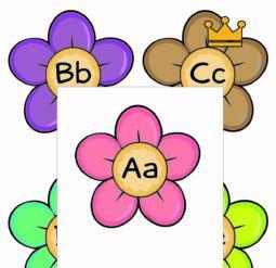 Английский алфавит - цветочные плакаты