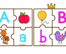 Английский алфавит - пазл
