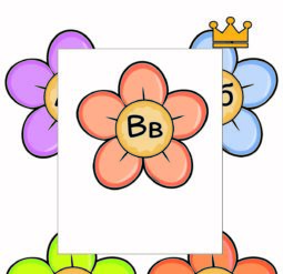 Русский алфавит - цветочные плакаты