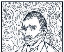 Автопортрет 1889 год - Раскраска Ван Гог
