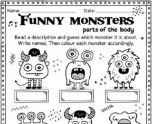 Funny monsters - parts of the body