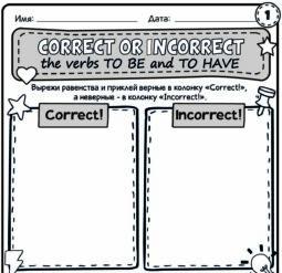 Correct or incorrect - the verbs to be and to have