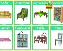 Furniture - flash cards