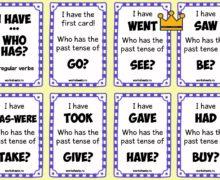 I have - who has. Irregular verbs