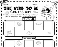 The verb to be - cut and sort