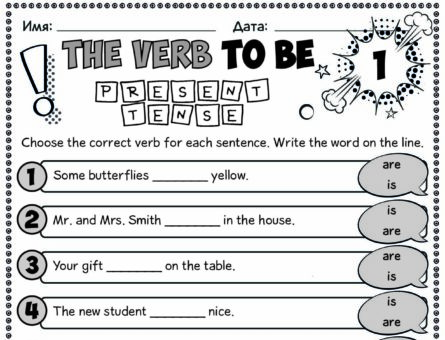 The verb to be. Present tense 1