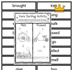 Verb sorting activity