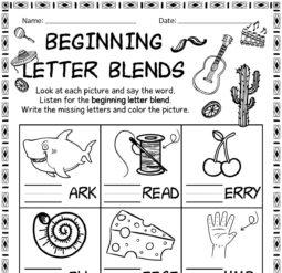 Beginning letter blends