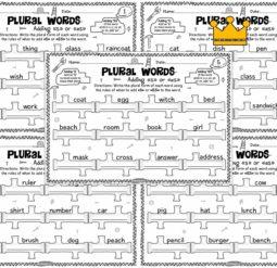 Plural words. Серия 5 листов